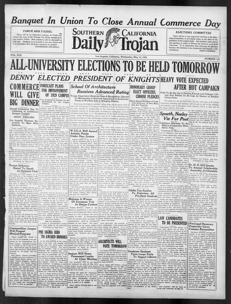 Daily Trojan, Vol. 19, No. 135, May 16, 1928