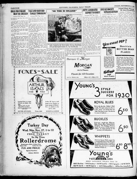 Southern California Daily Trojan, Vol. 21, No. 47, November 22, 1929