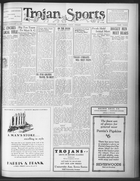 Daily Trojan, Vol. 20, No. 81, February 12, 1929
