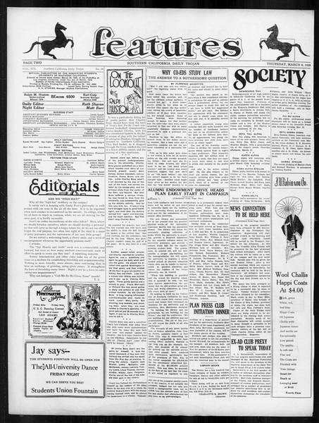 Daily Trojan, Vol. 19, No. 94, March 08, 1928