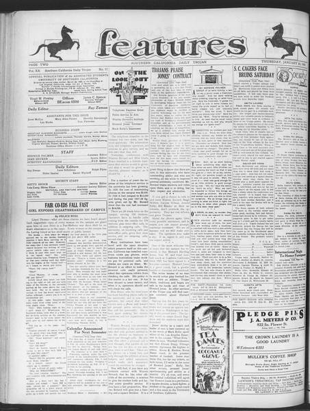 Daily Trojan, Vol. 20, No. 77, January 24, 1929