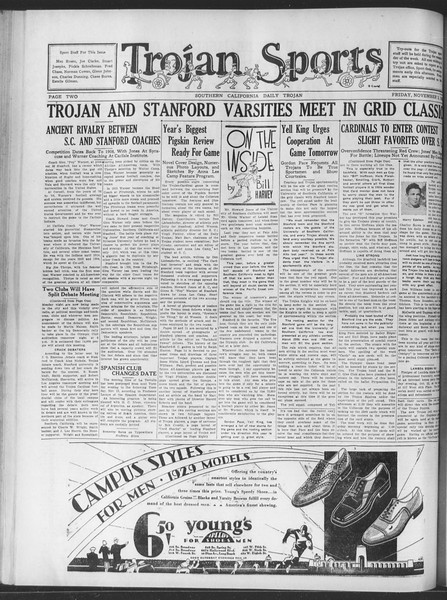 Daily Trojan, Vol. 20, No. 36, November 02, 1928