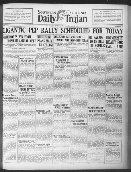 Daily Trojan, Vol. 20, No. 25, October 18, 1928