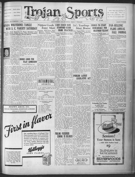 Southern California Daily Trojan, Vol. 21, No. 35, November 04, 1929