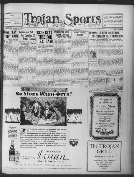 Daily Trojan, Vol. 20, No. 31, October 26, 1928