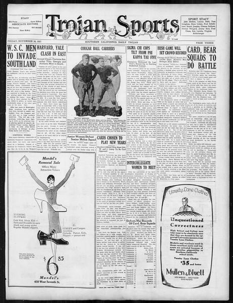 Daily Trojan, Vol. 19, No. 43, November 18, 1927