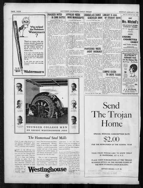 Daily Trojan, Vol. 19, No. 60, January 09, 1928