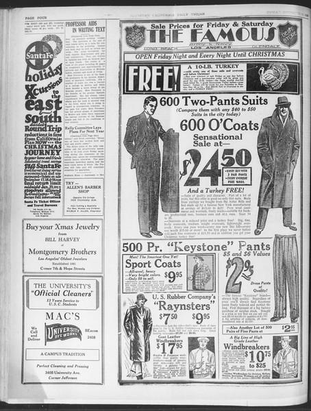 Daily Trojan, Vol. 20, No. 61, December 14, 1928
