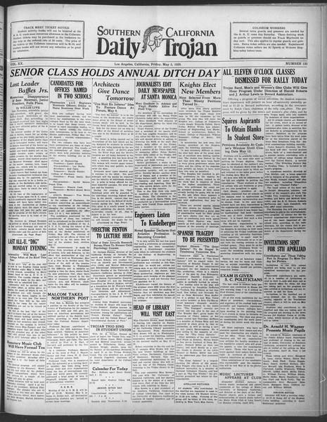 Daily Trojan, Vol. 20, No. 133, May 03, 1929