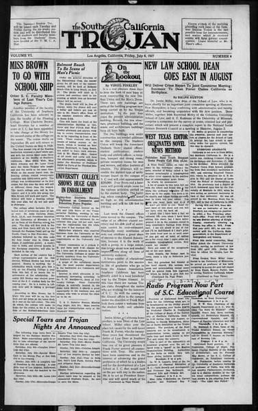 The Southern California Trojan, Vol. 6, No. 4, July 08, 1927