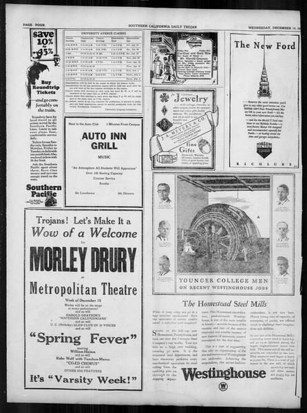 Daily Trojan, Vol. 19, No. 57, December 14, 1927