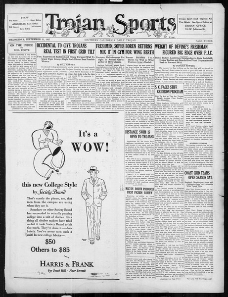 Daily Trojan, Vol. 19, No. 3, September 21, 1927