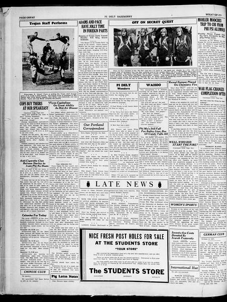 "The Pi Delt Razzberry, Vol. ""one fifth"", No. ""15-7"", November 20, 1929"