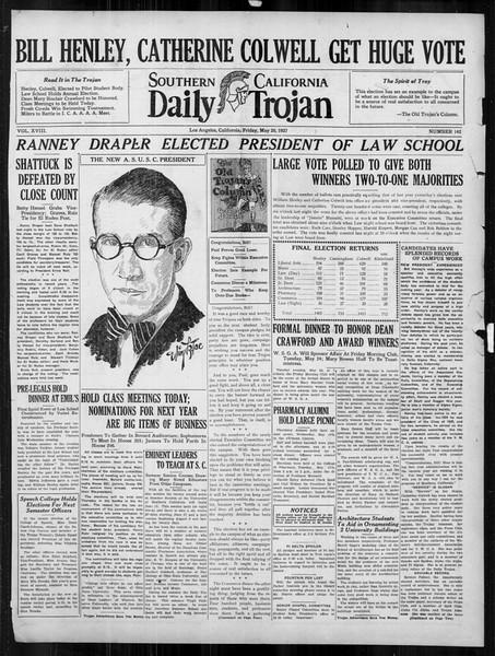 Daily Trojan, Vol. 18, No. 142, May 20, 1927