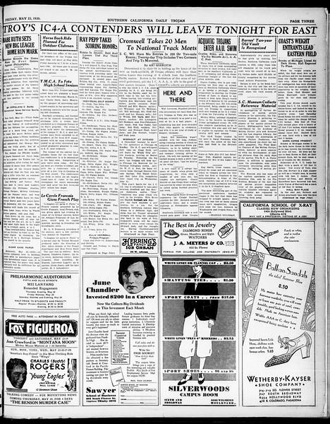 Southern California Daily Trojan, Vol. 21, No. 145, May 23, 1930
