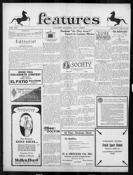 Daily Trojan, Vol. 18, No. 122, April 21, 1927