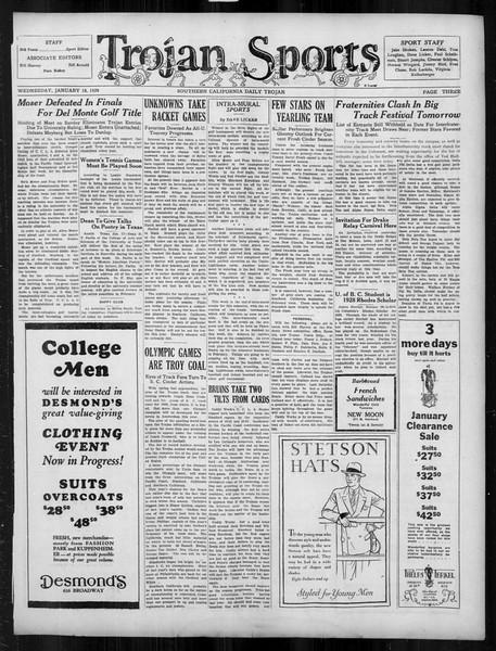 Daily Trojan, Vol. 19, No. 67, January 18, 1928