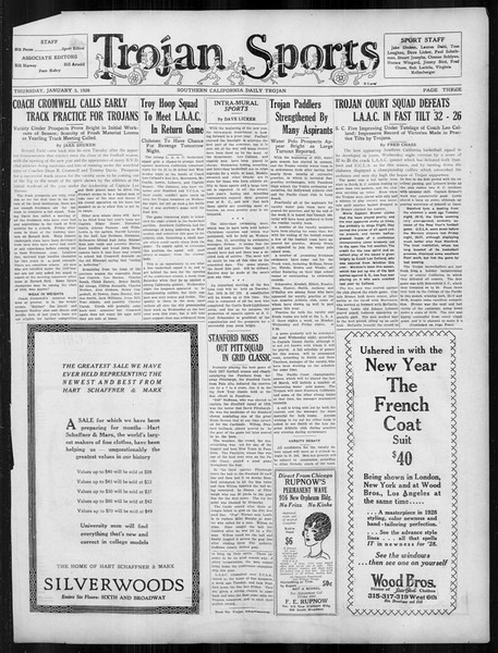 Daily Trojan, Vol. 19, No. 58, January 05, 1928