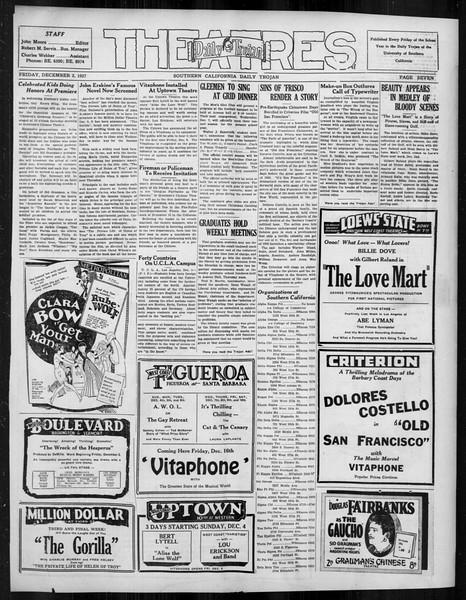 Daily Trojan, Vol. 19, No. 50, December 02, 1927