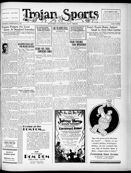 Southern California Daily Trojan, Vol. 21, No. 76, February 06, 1930