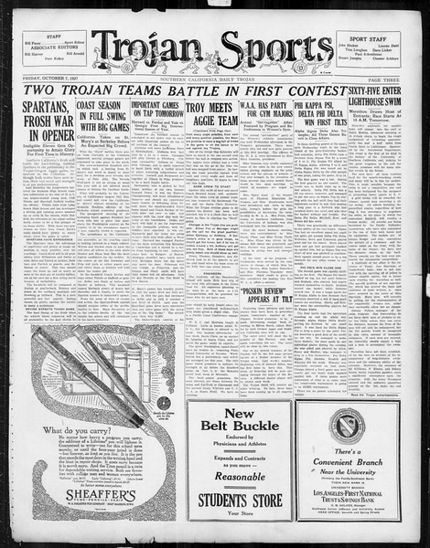 Daily Trojan, Vol. 19, No. 15, October 07, 1927