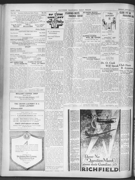 Daily Trojan, Vol. 20, No. 68, January 11, 1929