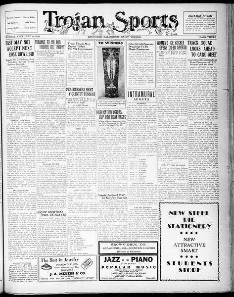 Southern California Daily Trojan, Vol. 21, No. 78, February 10, 1930
