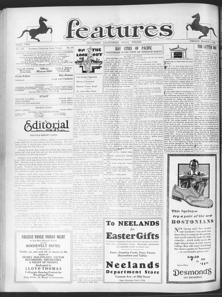 Daily Trojan, Vol. 20, No. 94, March 01, 1929