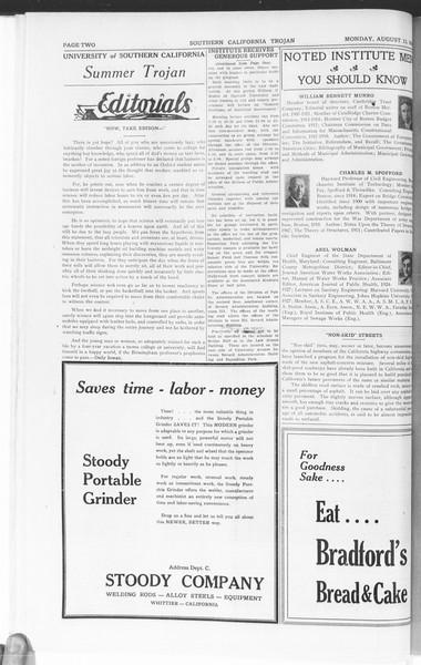 Trojan: Division of Public Administration, Vol. 1, No. 1, August 13, 1928