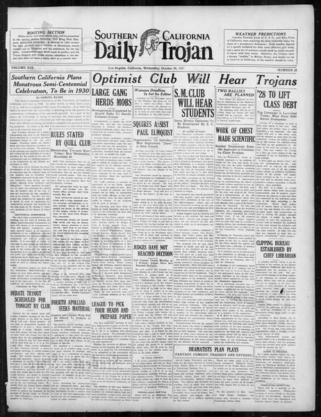Daily Trojan, Vol. 19, No. 28, October 26, 1927