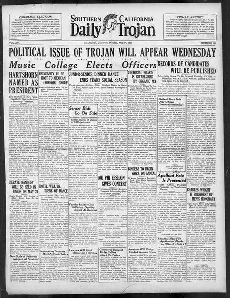 Daily Trojan, Vol. 19, No. 133, May 14, 1928
