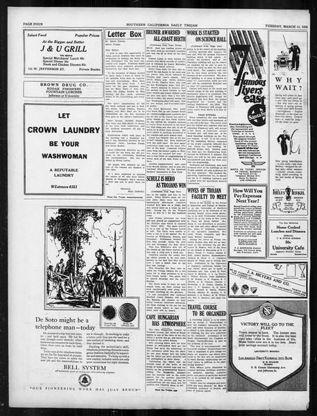 Daily Trojan, Vol. 19, No. 97, March 13, 1928