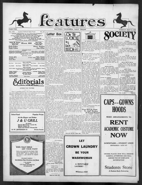 Daily Trojan, Vol. 19, No. 134, May 15, 1928