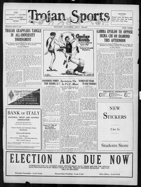 Daily Trojan, Vol. 18, No. 133, May 09, 1927