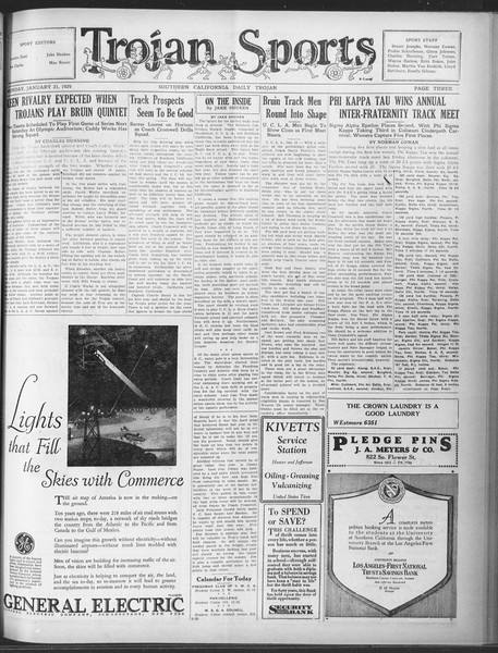 Daily Trojan, Vol. 20, No. 74, January 21, 1929