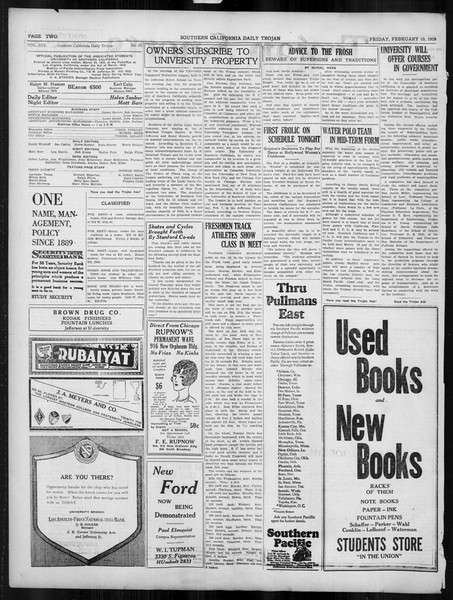 Daily Trojan, Vol. 19, No. 76, February 10, 1928