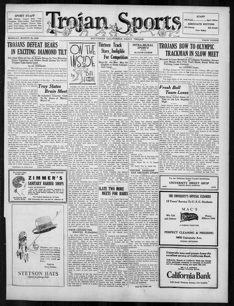 Daily Trojan, Vol. 19, No. 101, March 19, 1928