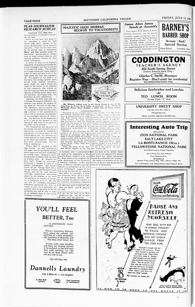 The Southern California Trojan, Vol. 8, No. 4, July 12, 1929