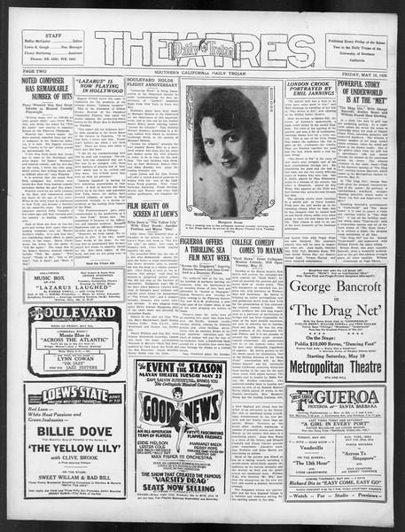 Daily Trojan, Vol. 19, No. 137, May 19, 1928