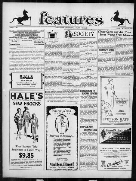 Daily Trojan, Vol. 18, No. 104, March 18, 1927