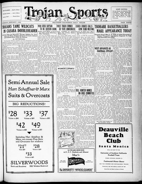 Southern California Daily Trojan, Vol. 21, No. 62, January 07, 1930