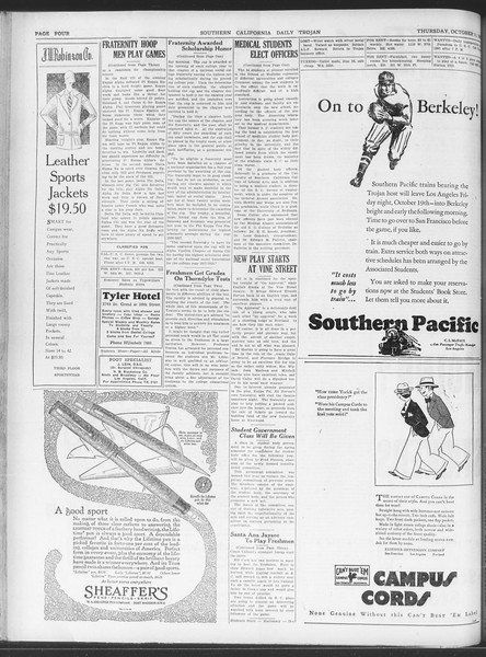 Daily Trojan, Vol. 20, No. 20, October 11, 1928