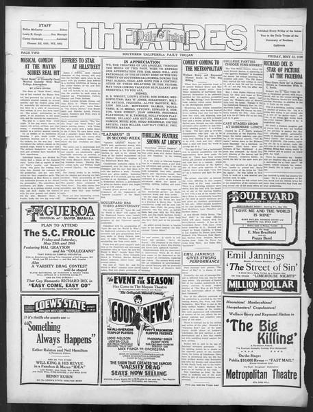 Daily Trojan, Vol. 19, No. 142, May 25, 1928