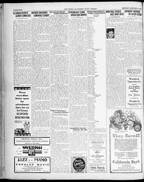 Southern California Daily Trojan, Vol. 21, No. 61, January 06, 1930