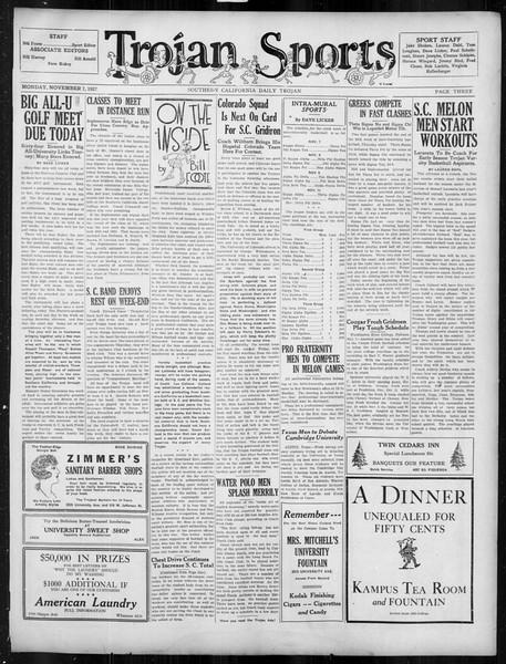 Daily Trojan, Vol. 19, No. 36, November 07, 1927