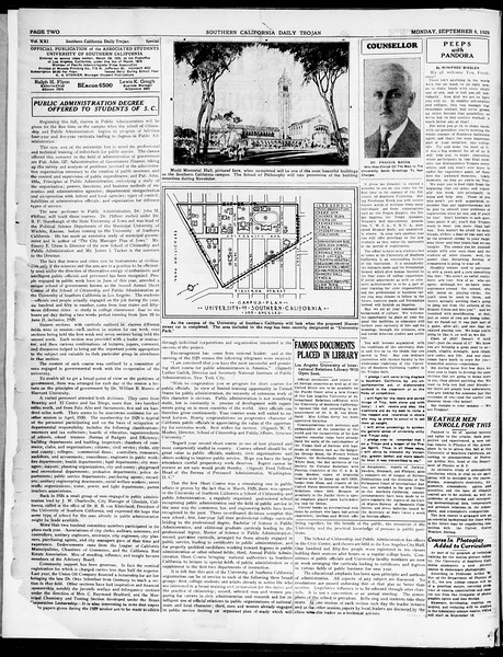 The Southern California Trojan, Vol. 21, No. Special Freshman Edition, September 09, 1929