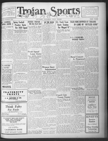 Daily Trojan, Vol. 20, No. 96, March 04, 1929