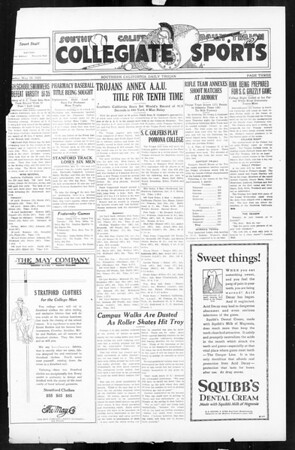 Daily Trojan, Vol. 16, No. 107, May 18, 1925