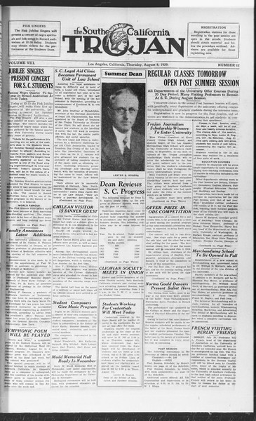 The Southern California Trojan, Vol. 8, No. 12, August 08, 1929