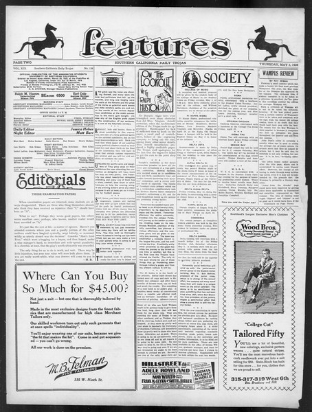 Daily Trojan, Vol. 19, No. 126, May 03, 1928